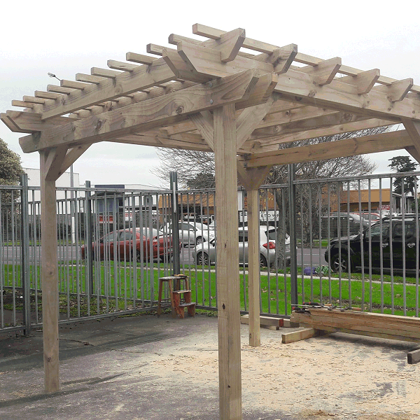 solid wood pergola
