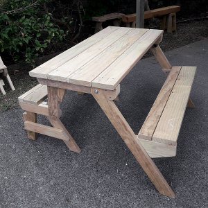 wider folding picnic table