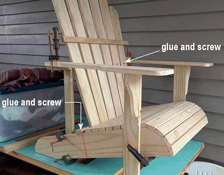 fixing the adirondack chair back