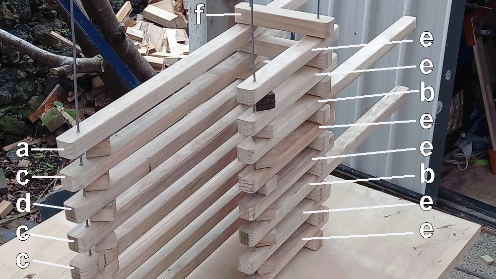 camoda chair construction - pieces all stcked