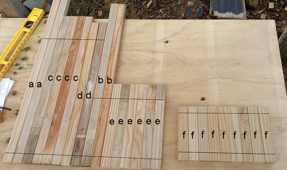 camoda chair construction - drill lines marked