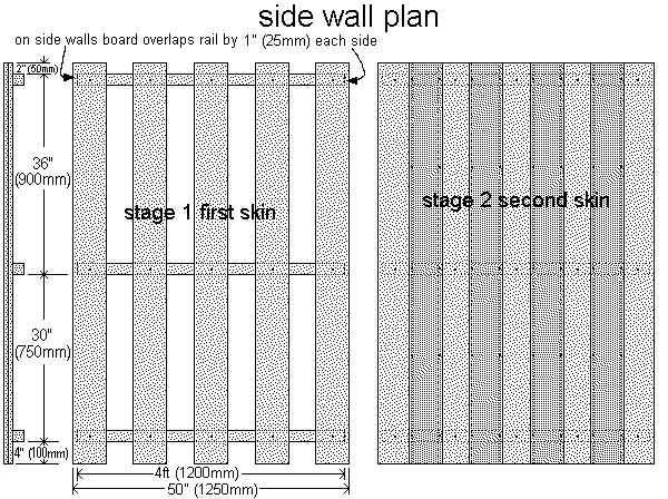 shed side wall plans