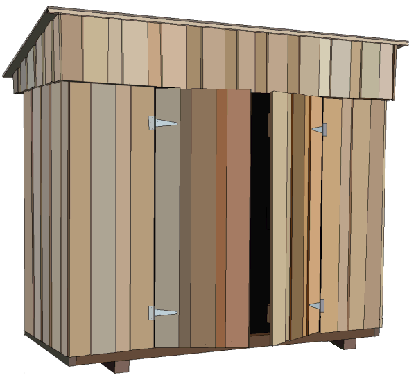 Build Plans for a 8ft x 4ft (2.4 x 1.2m) wooden shed