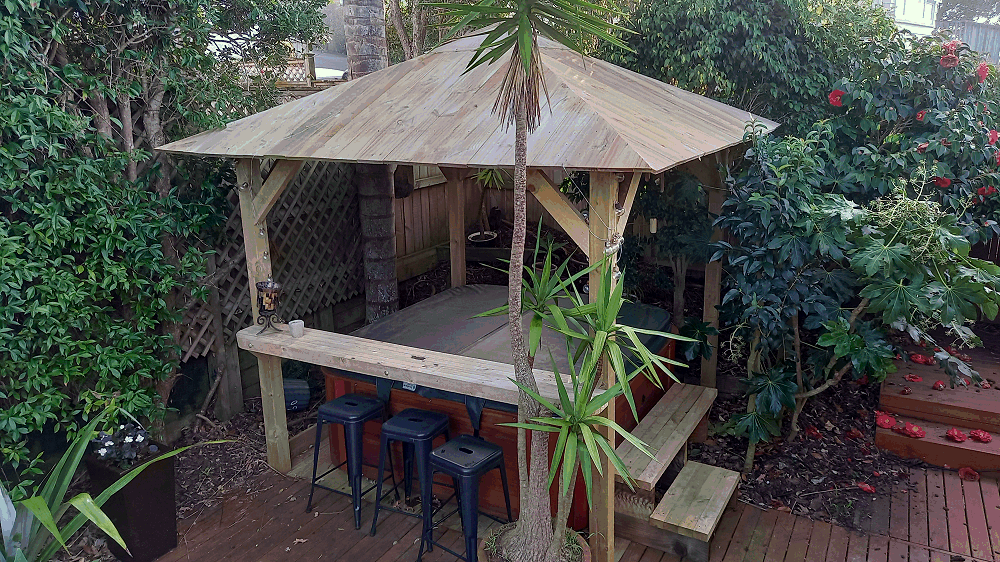 How to build a Spa Gazebo and Bar