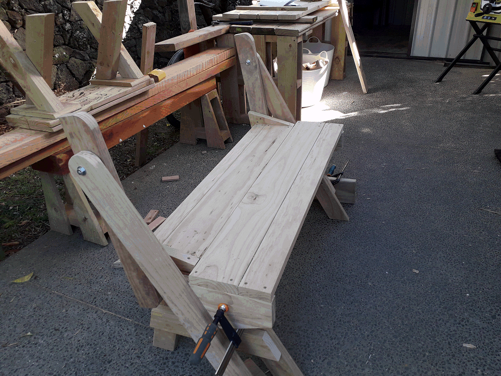 folding picnic table rear seat boards fixed