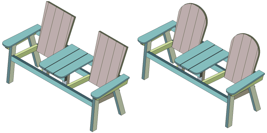 jack and jill seat backrest isometric drawing