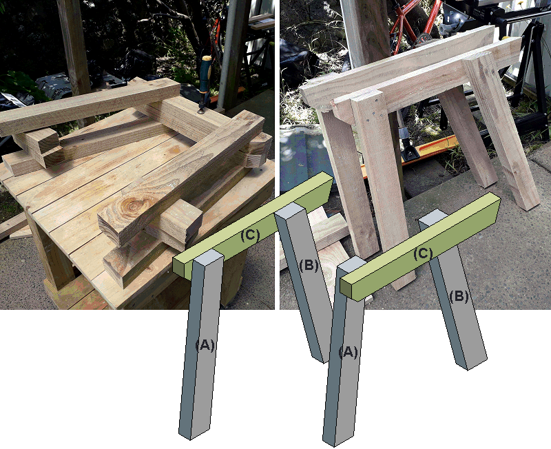 jack and jill seat side-frame made