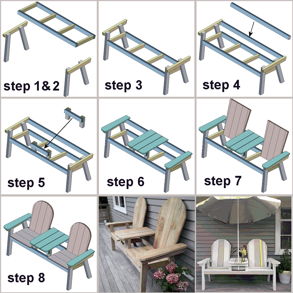 step by steo pictorial summary of making a jack and jill seat