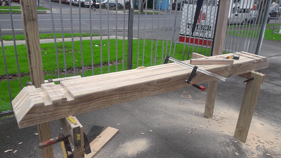 building a pergola - the rafter notches