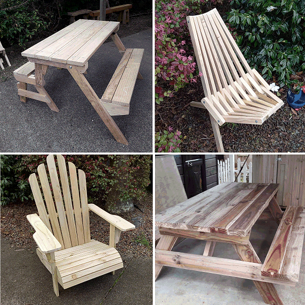 four outdoor woodwork projects